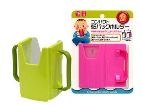 Réglable Kid preuve déversement Tasse Pliable jus//Lait//Boisson Box Holder