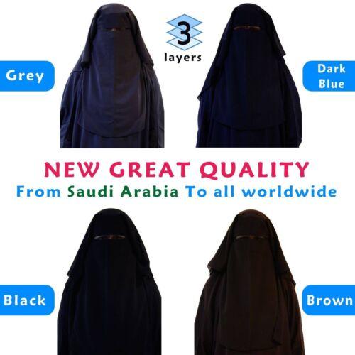 Muslim Hijab 3 Layer Burka Nikab