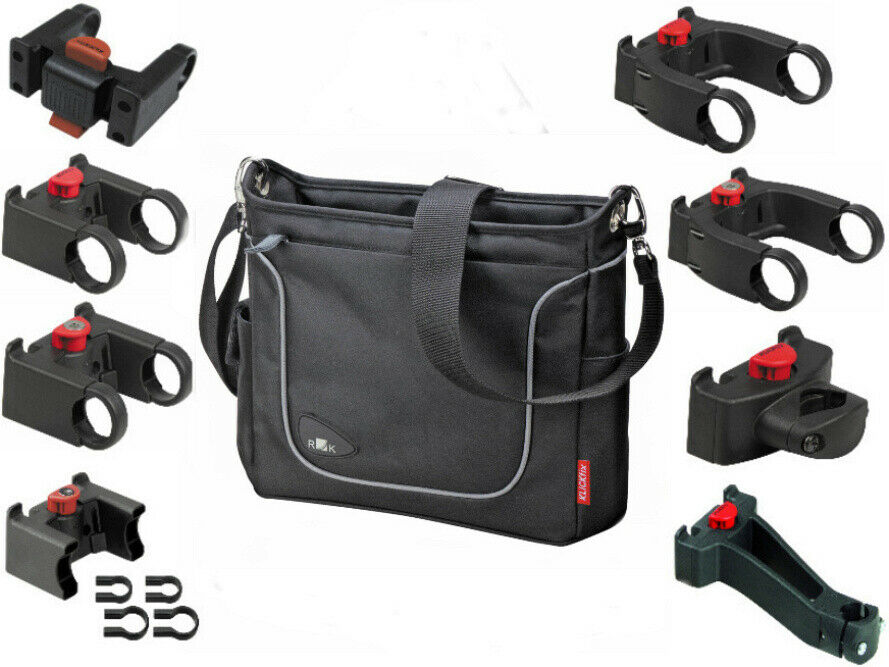 Rixen & Kaul Klickfix Fahrrad Lenkertasche Allegra Fashion schwarz