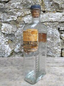 Vintage-1-2-Pint-Glass-Bottle-Tablespoon-Markings-Harry-Smith-Chemist-Pendleton