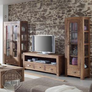 Wohnwand Guru Akazie Massiv Stone Wohnkombination Von Wolf Möbel Ebay
