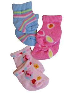 Puppen Kleidung 3er Set Söckchen Strümpfe Socken für kleine Puppen 763 Heless..