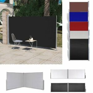 timeless design 0d2f7 44f9b Details about Retractable Side Awning Wall Shade Blind Privacy Screen  Garden Patio Terrace UK