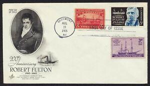#1270 5c Robert Fulton-Combo, Arte Craft-E Toques Marco Variedad [2]