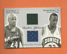 2003-04 SKYBOX JARVIS HAYES RONALD MURRAY GAME-WORN JERSEYS #d 160/500