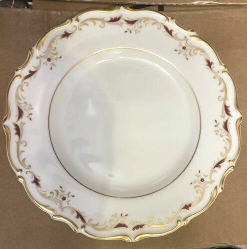 S ENGLISH SET 4   BREAD PLATES ROYAL DOULTON CHINA STRASBOURG H4958 MAROON GOLD