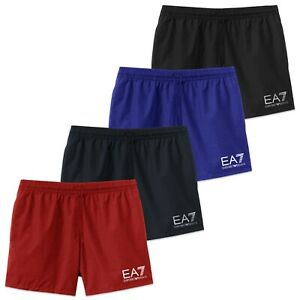 rivenditore online 6109d 1be59 Dettagli su Emporio Armani Pantaloncini da Nuoto - Ea7 Logo - Nero, Rosso,  Navy, Blu
