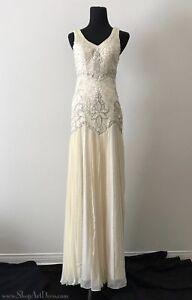 Sue Wong 1920s Beaded Drop Waist Wedding Dress Gatsby Bridal Gown
