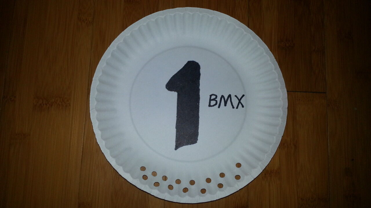 OLD SCHOOL BMX NOS VINTAGE CLASSIC NUMBER PLATE USED BY TOP PROS