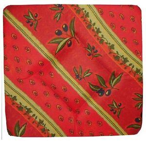 Galette Dessus De Chaise Rouge Provencale