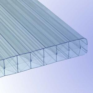 16mm stark Doppelstegplatte klar 1200mm x 4000mm Stegplatte aus Polycarbonat Steg 3 Fach