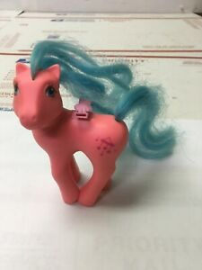Vintage 1987 My Little Pony G1 Hasbro  Pink w/Blue Hair Music Notes No Wings MLP