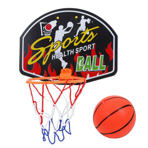 Details about  /Mini Basketball Hoop System Kids Goal Over The Door Indoor Sports Ball+Pump US