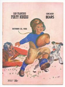 Vintage-1955-San-Francicso-49ers-vs-Chicago-Bears-Football-Program-Outstanding