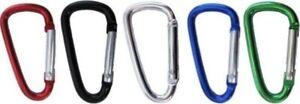 1-3-5-Stueck-Karabiner-Haken-Aluminium-55-mm-Alu-Geocaching-verschiedene-Farben