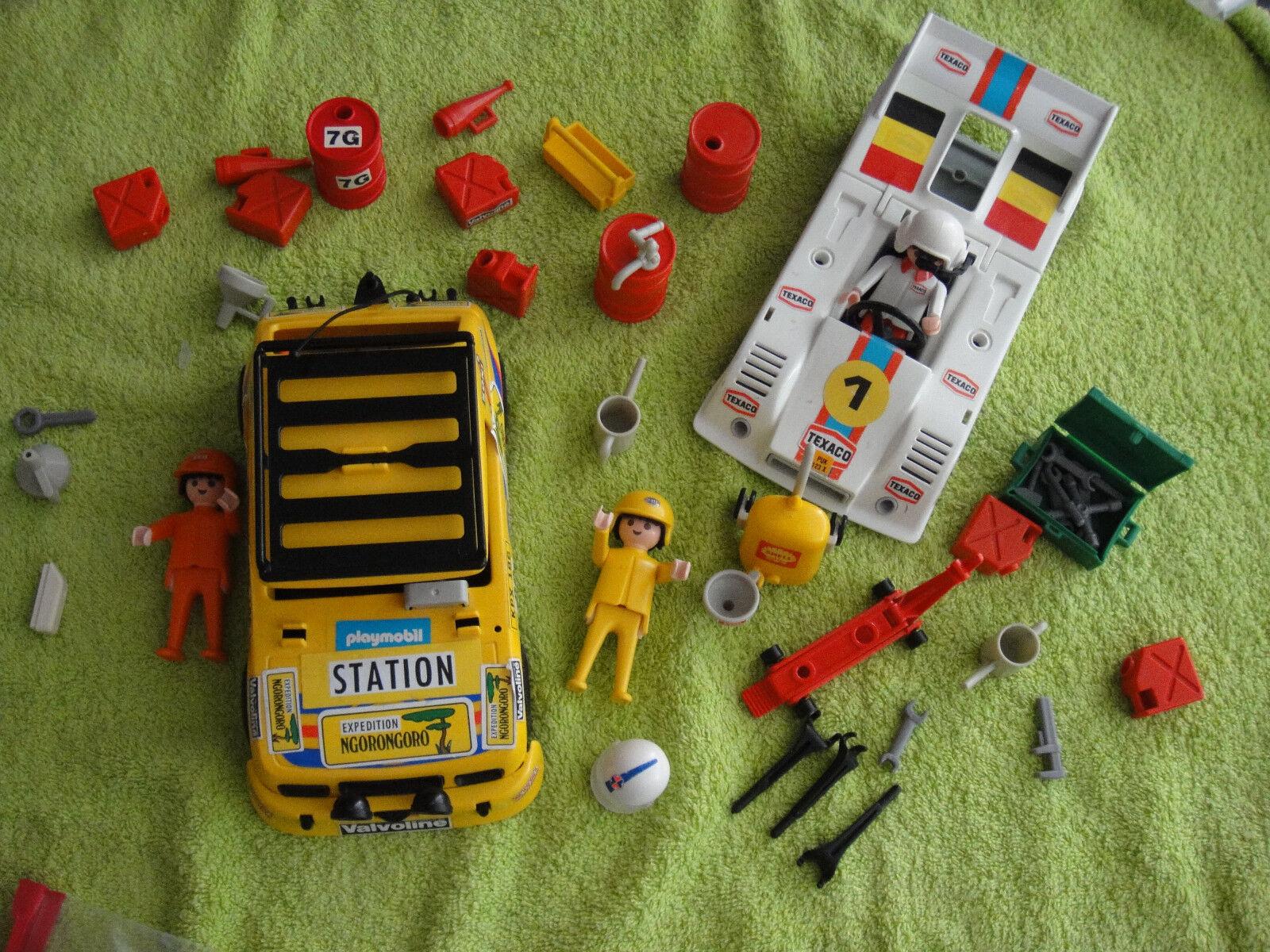Playmobil 3522 Klicky Rennwagen und Safari Wagen Auto
