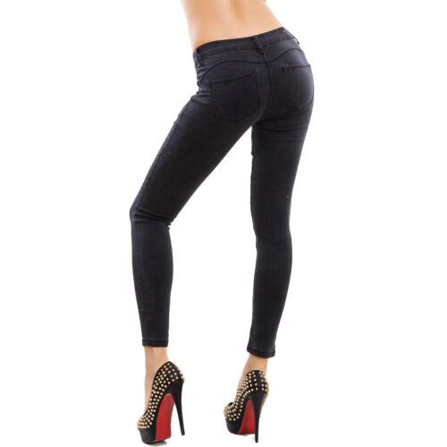 Jeans donna pantaloni skinny slim elasticizzati push up aderenti nuovi M5317