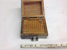Meyer M O Plug Gage Set 011 Thru 060 Missing 011 012 013 033 Pins