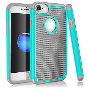 iPhone-X-6S-7-8-Plus-Case-Non-Slip-Hybrid-Dual-Layer-Silicone-Shockproof-Cover