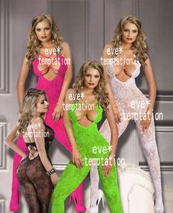 hot-Sexy-Fishnet-Bodystocking-Bodysuit-Lingerie-Babydoll-garters-Underwear-dress