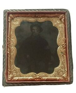 1-6th-Plate-Ambrotype-of-Possible-Civil-War-Soldier-or-Civilian-Half-Case