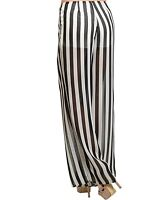 S Tribal Burlesque Festival Gothic Belly Dancing Striped Palazzo Gaucho Pants