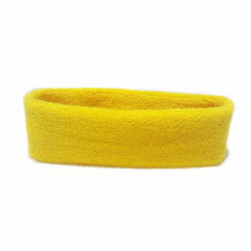 Women//Men Cotton Sweat Sweatband Headband Yoga Gym Stretch Head Band For Sport