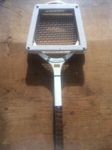 Vintage English Dunlop Blue Flash Junior Tennis Racket + Press D Bromby Beverley