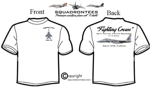 60th TFS Fighting Crows F-15C Premium Art Product Long or Short Sleeve D-2