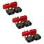 3 Paar Amass T-Dean Deans T-Plug Stecker Buchse Goldstecker Schutzkappe 40A Lipo