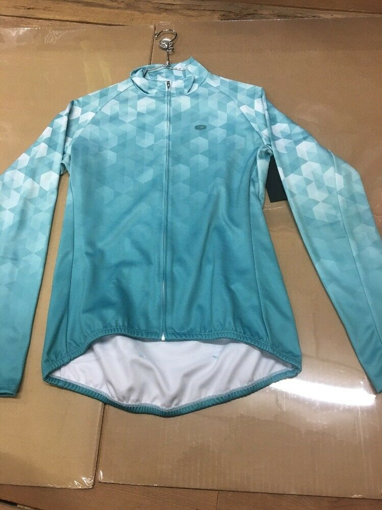 Sugoi Evolution Zap L S Sleeve Cycling Jersey Womens MEDIUM Road Mountain  k5