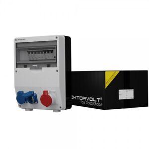 Distribution Board Power Box TD-S / Fi 1x16A 2x230V Wall Building Site 6718