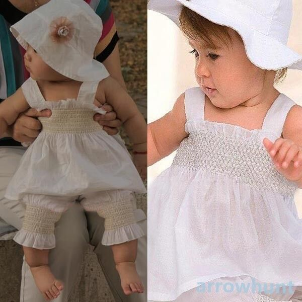 Lovely Baby Kids Ruffled Clothes 3 Pcs Outfit Girl Top+Pants+Hat Set Size 0-3Y