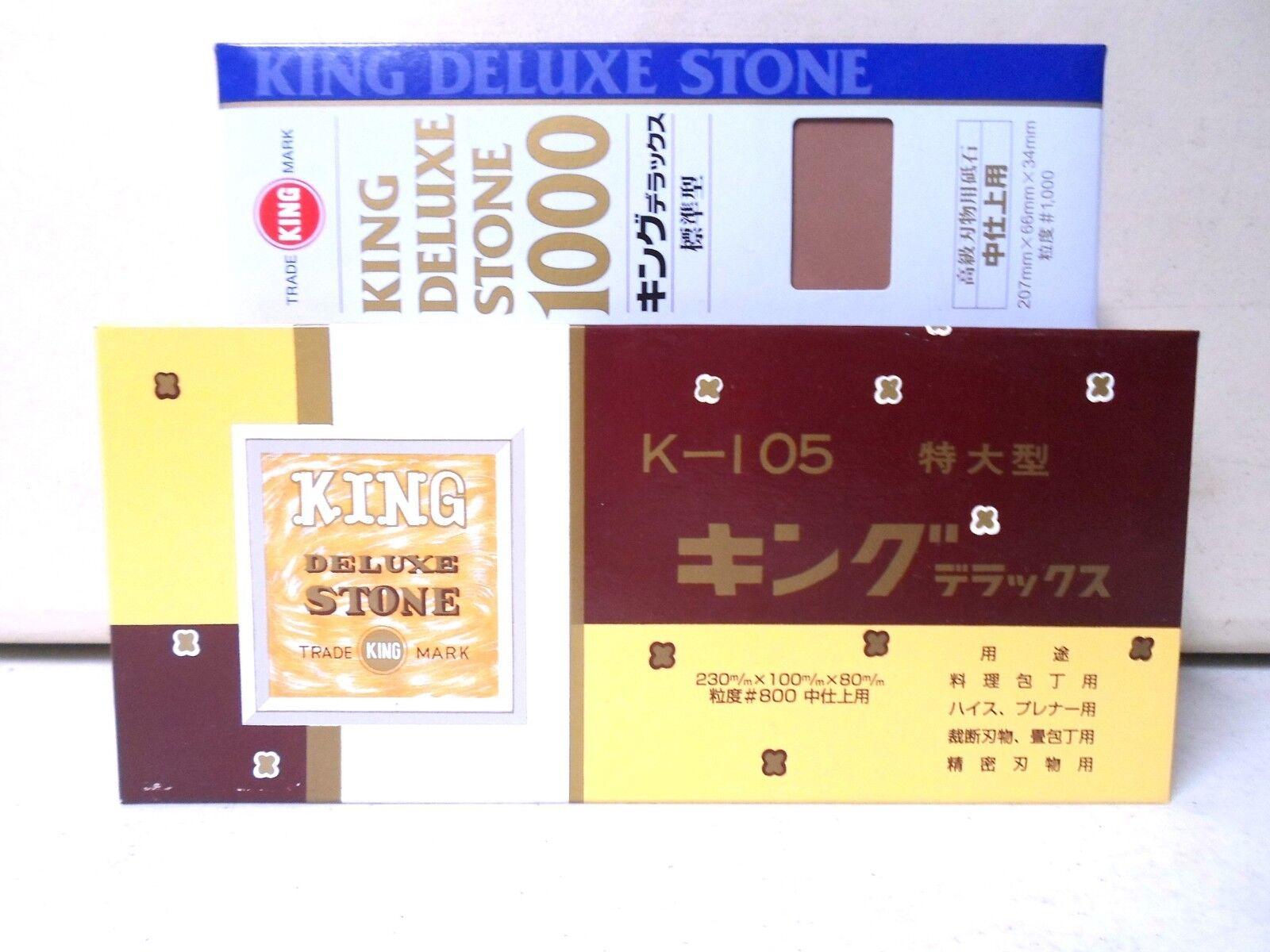 King Pierre à aiguiser gros grain 800 Deluxe et grain 1000 Finition Sharpening Stones