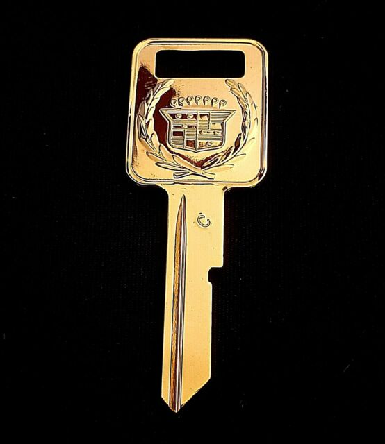 Vintage Gold Cadillac Key Uncut Blank C Ignition Fleetwood