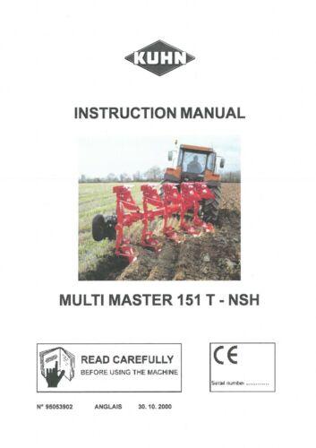 Kuhn Arado Multi Master 151 T-Nsh-Manual del operador Multimaster