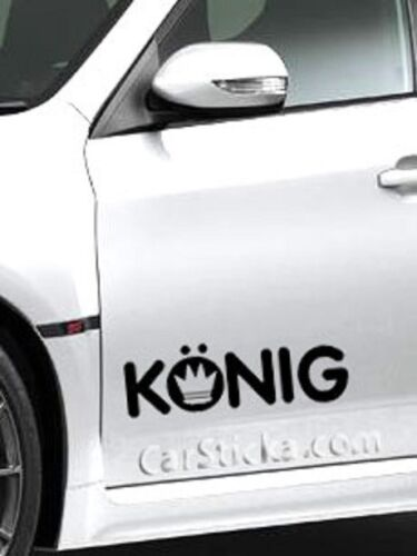 "2 of 8/"" Konig racing aftermarker car bumper window vinyl sticker decal die cut"