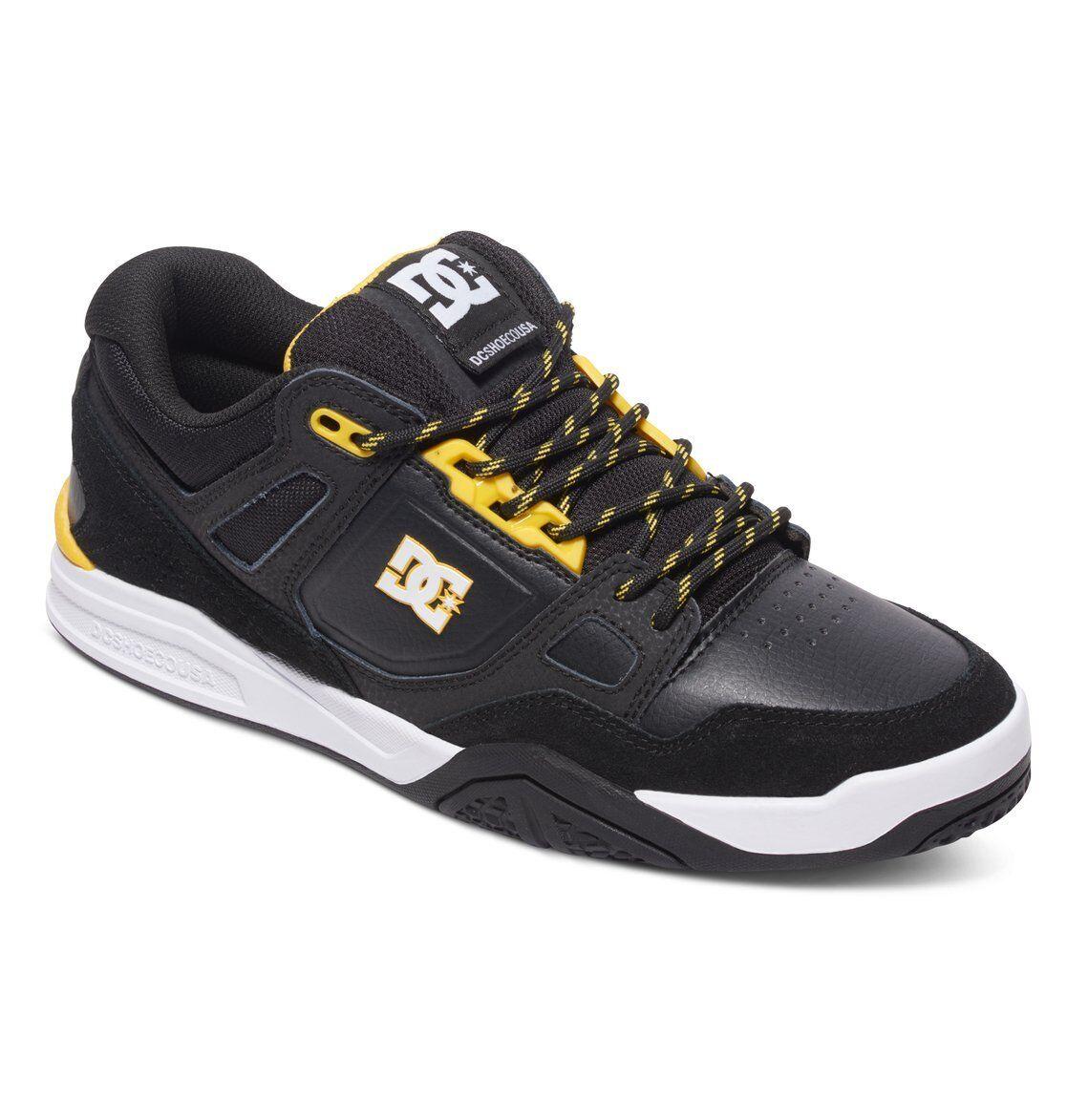 Herrenschuhe Frau skate DC Schuhes Hirsch 2 schwarz gelb Schuhe chaussures zapatos