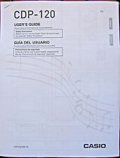 Casio CDP-120 Digital Piano Keyboard Owner's User's Operating Manual Booklet