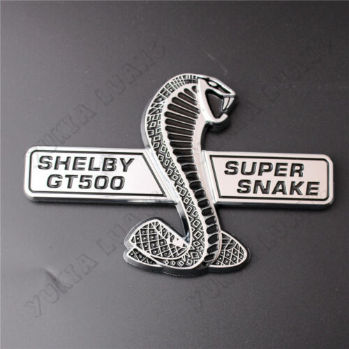 Shelby GT500 Snake Cobra ABS Badge Car Front Grille Emblem Sticker for Mustang