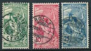 Schweiz-Nr-71-73-II-gestempelt-25-Jahre-Weltpostverein-69679