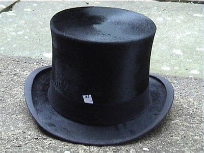 Antico C R Wilde, Southport Black Silk Top Hat Sz 7 1/8.- Saldi Estivi Speciali