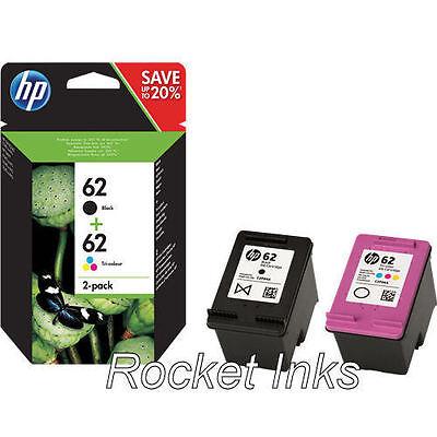 Genuine HP 62 Black & Colour Ink Cartridge For ENVY 5540 Printer