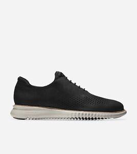 Cole-Haan-Mens-2-ZeroGrand-Lined-Laser-Wingtip-Oxford-Dress-Shoes-Black-Sz-16M