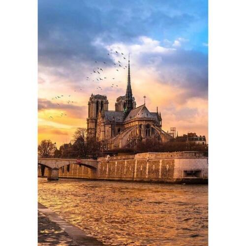 5D DIY Full Drill Diamond Painting Notre Dame de Paris Craft Kit Home Decor Gift
