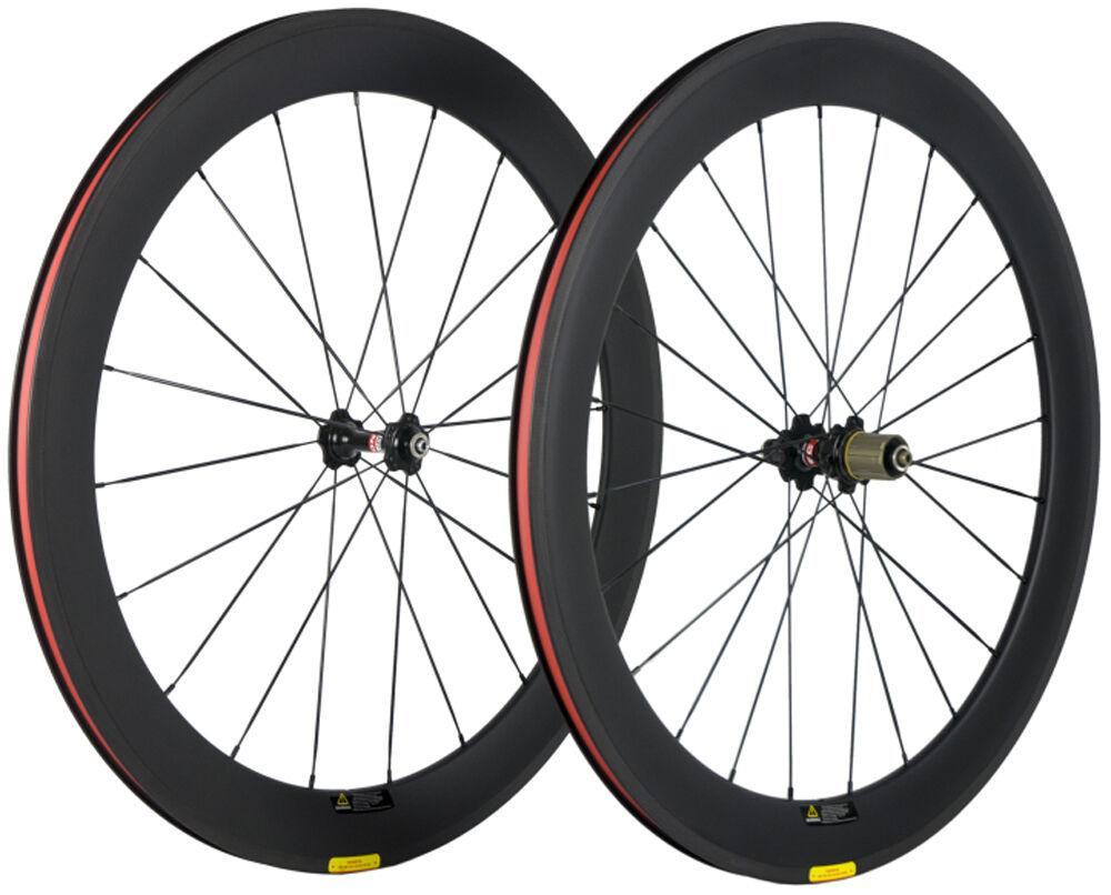 700C 60mm Full Carbon Fiber Wheelset Road Bike Cycle Novatec 271 Hub Shimano