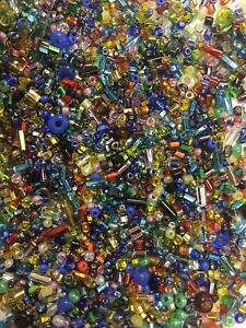 Beads-Czech-Glass-Seed-Beads-fun-Assortment-1-2-lb-Bag