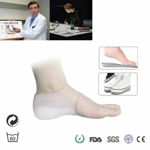 Heel Lift Insoles Silicone High Increase Shoe Inserts Plantar Fasciitis Heel