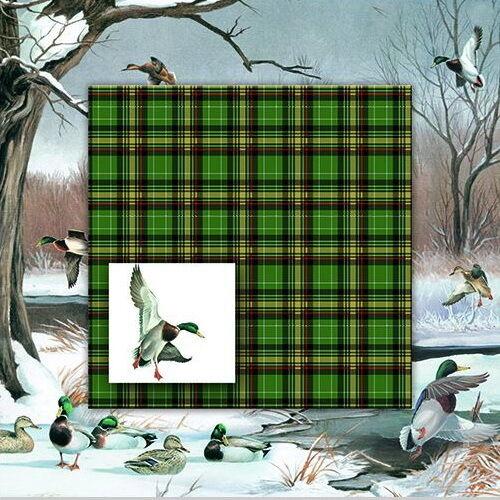 """20 Servietten/""""Duck Pond/""""Ente*Herbst*Karo*Wald*Waldtiere*33x33*Ententeich*Jagd"""