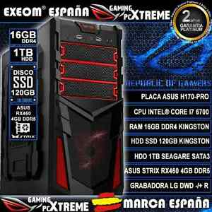 ORDENADOR-PC-GAMING-CORE-i7-6700-16GB-DDR4-SSD-120GB-1TB-HDD-ASUS-RX460-4GB-DDR5